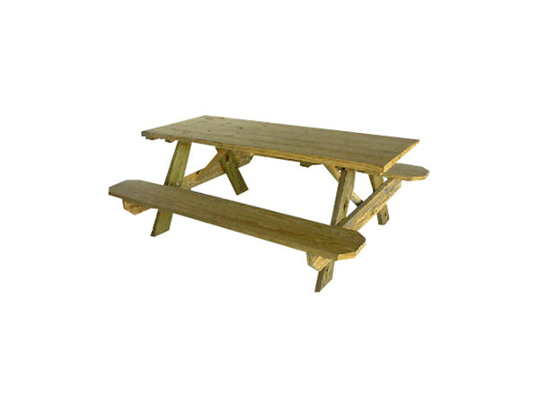 Universal Forest Products 251702 Pressure Treated Picnic Table Kit, 6'
