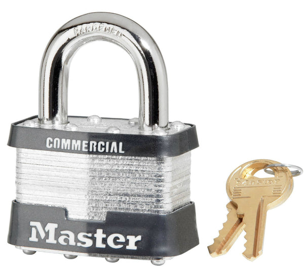 Master Lock® 5KA-A214 Laminated Steel Padlock, Keyed Alike, 2""