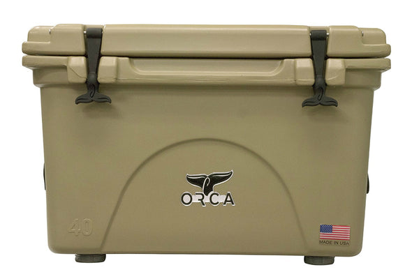 ORCA® ORCT040 Durable Roto-Molded Cooler, Tan, 40 Qt Capacity
