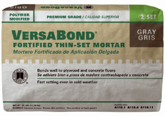 Custom Building Products MTSG25 VersaBond® Professional Thin-Set Mortar, Gray