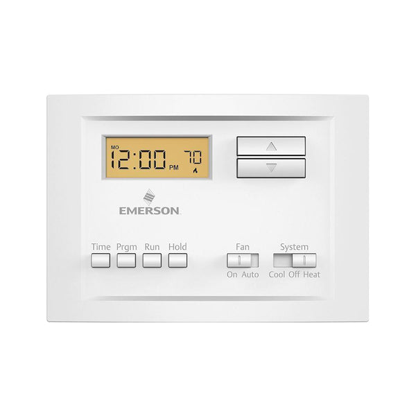 Emerson P150 Single-Stage Programmable Thermostat with 5-2 Day Scheduling