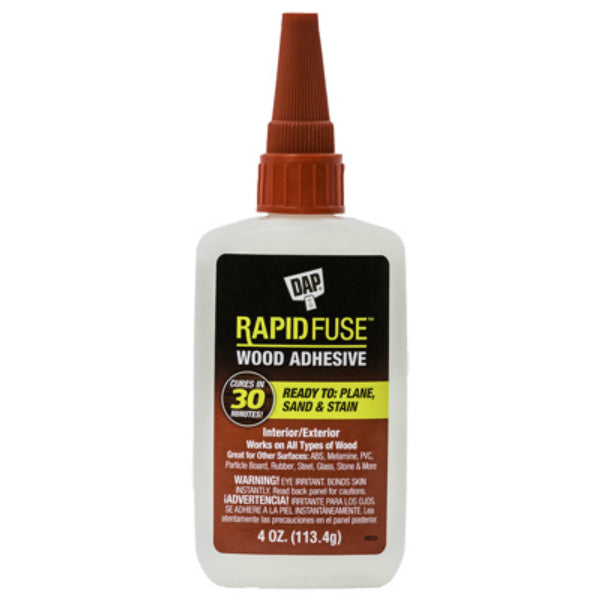 DAP® 00157 RapidFuse™ Fast-Curing Wood Adhesive, 4 Oz