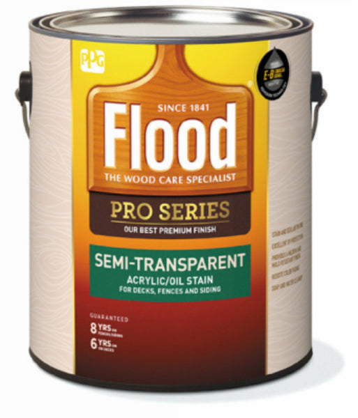 Flood FLD812-01 Pro Series Semi-Transparent Acrylic/Oil Stain, 1-Gallon