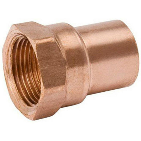 "Streamline® W-61263 Wrot Copper Adapter, 1"" C x 1"" FPT"