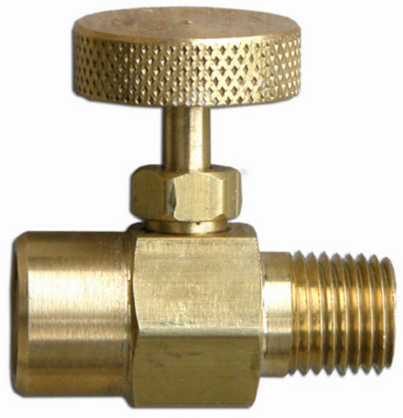 "Flame Engineering V-334 All Brass Adjusting Needle Valve, 1/4"" MPT x 1/4"" FPT"