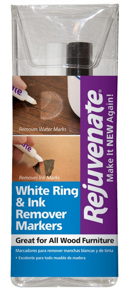Rejuvenate® RJ2RM White Ring & Dark Ink Stain Remover Pens, 2-Count