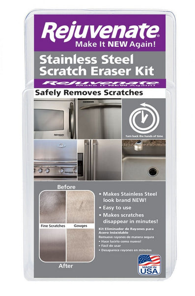 Rejuvenate® RJSSRKIT Stainless Steel Scratch Eraser Kit
