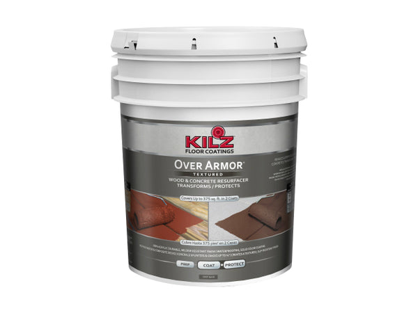 Kilz® L392505 Over Armor® Textured Finish, 5 Gallon