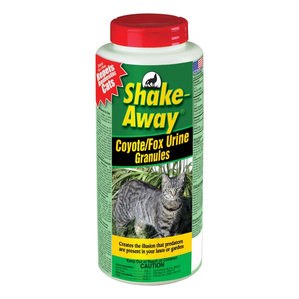 Shake-Away® 2854448 Coyote/Fox Urine Granules Cat Repellent, 28.5 Oz