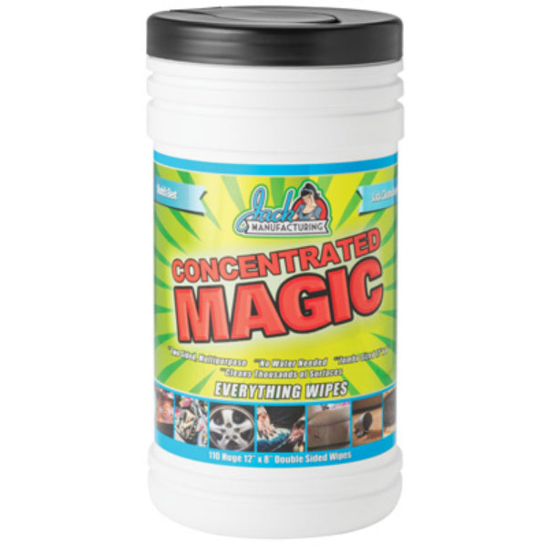 "Concentrated Magic 800111 Hand & Surface Wipes, 8"" x 12"", 110-Count"