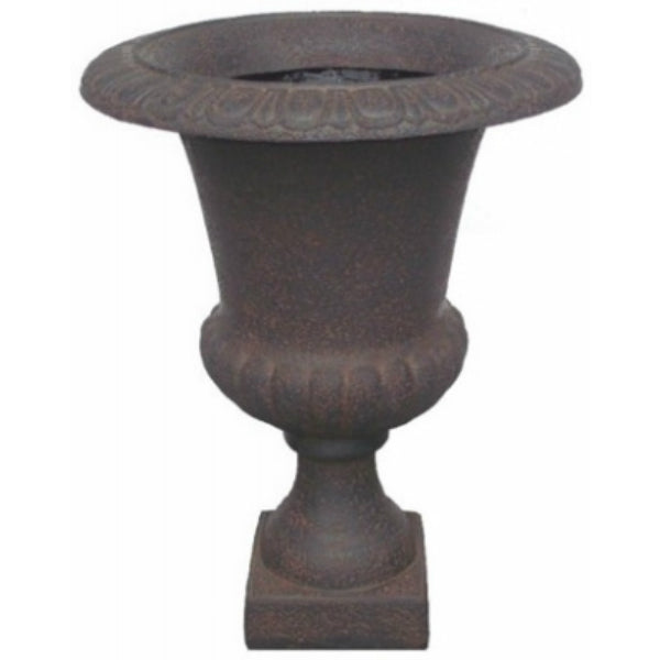 Williams Bay F069B-137 Havana Urn Fiberglass Planter, Iron Ruse, 24""