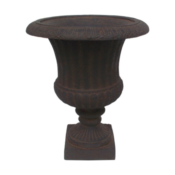 Williams Bay F212C-137 Venetian Urn Fiberglass Planter, Iron Rust, 14.5""