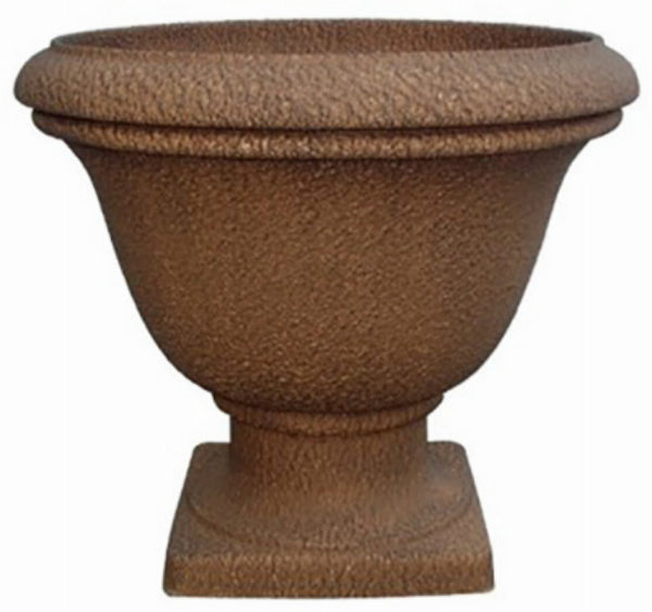 Williams Bay SL6080-S10 Lillian Urn Stonelite Planter, Country Rust, 16""