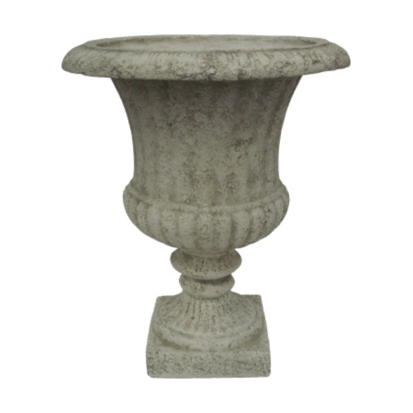 Williams Bay F212C-C16 Venetian Urn Fiberglass Planter, Country White, 14.5""