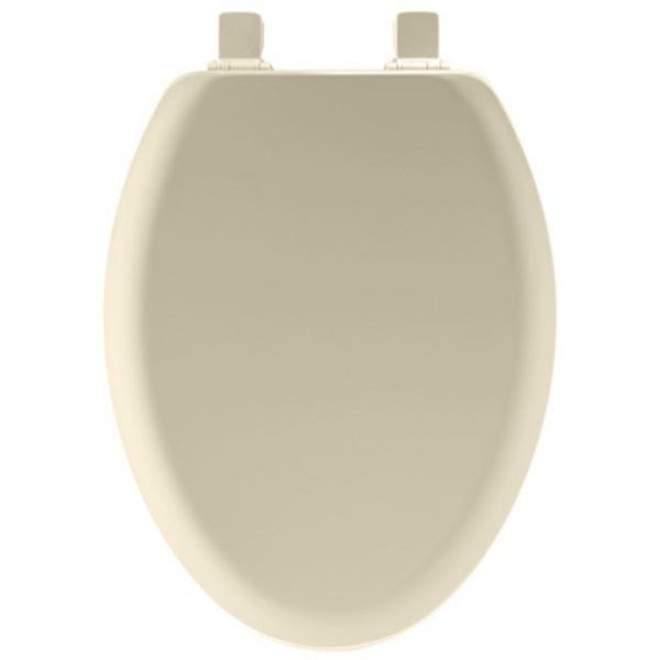 Mayfair 141EC-006 Elongated Molded Wood Toilet Seat w/Easy-Clean Hinges, Bone
