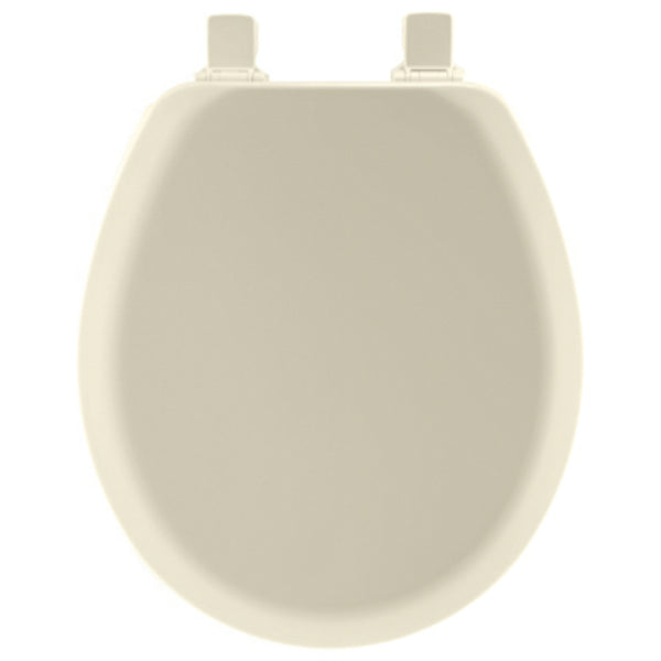 Mayfair 41EC-346 Round Molded Wood Toilet Seat with Easy-Clean Hinges, Biscuit