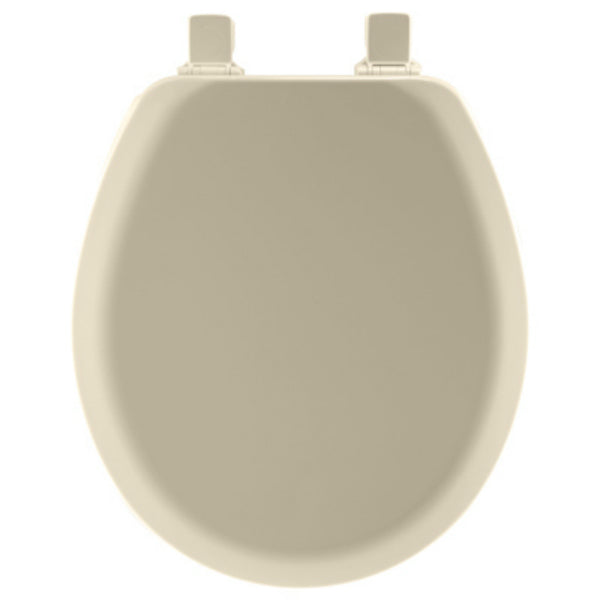Mayfair® 41EC-006 Round Molded Wood Toilet Seat w/ Easy-Clean® Hinges, Bone