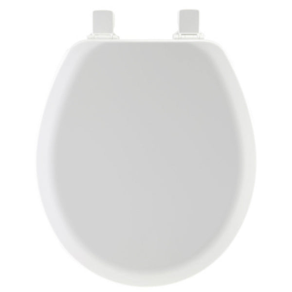 Mayfair® 41EC-000 Round Molded Wood Toilet Seat w/ Easy-Clean® Hinges, White