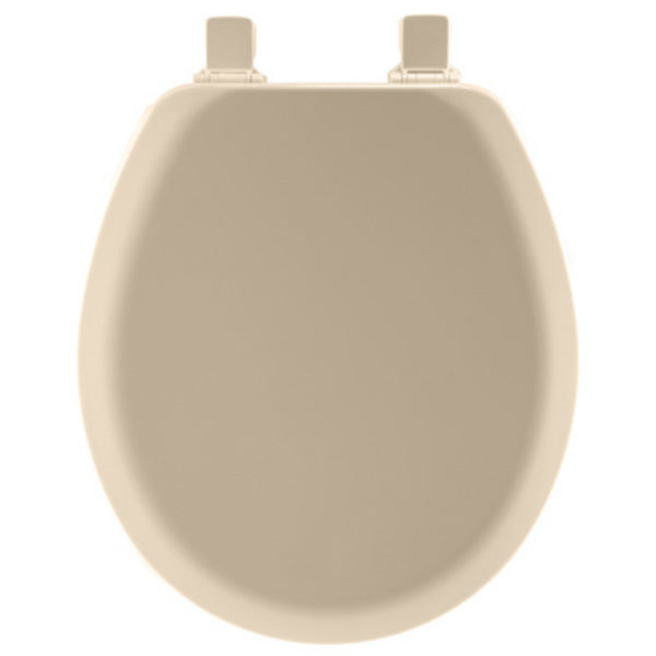 Mayfair® 41EC-078 Round Molded Wood Toilet Seat w/ Easy-Clean® Hinges, Beige
