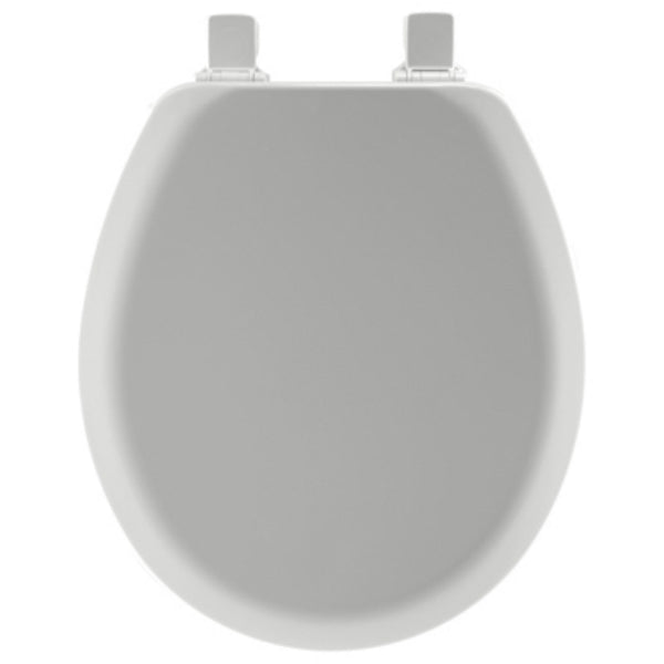 Mayfair 41EC-162 Round Molded Wood Toilet Seat with Easy-Clean Hinges, Silver