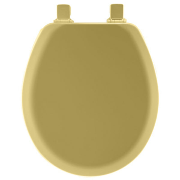 Mayfair® 41EC-031 Round Molded Wood Toilet Seat w/ Easy-Clean Hinges, Harvest Gold