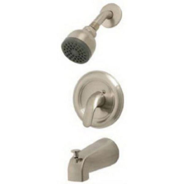 BayPointe™ 623316CA Single Metal Lever Handle Tub & Shower Faucet, Nickel Finish