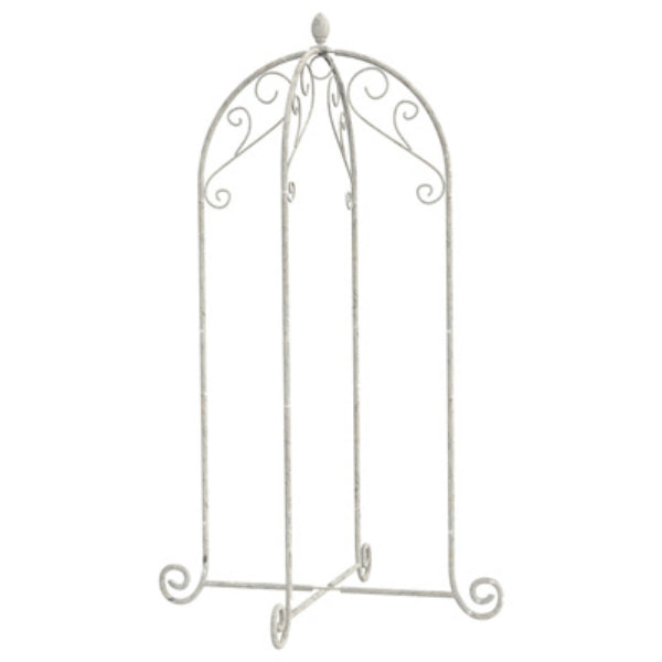 Panacea™ 88191 French Country Scroll Hanging Basket Stand, White, 40""
