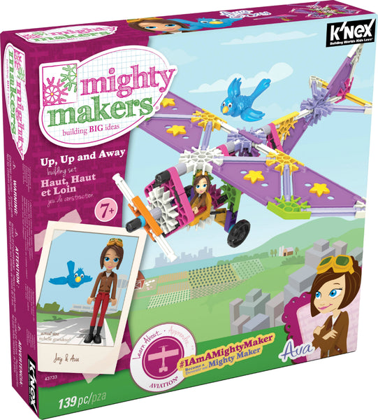 Knex® 43733 Mighty Makers® Up - Up and Away™ Building Set, 139-Pieces