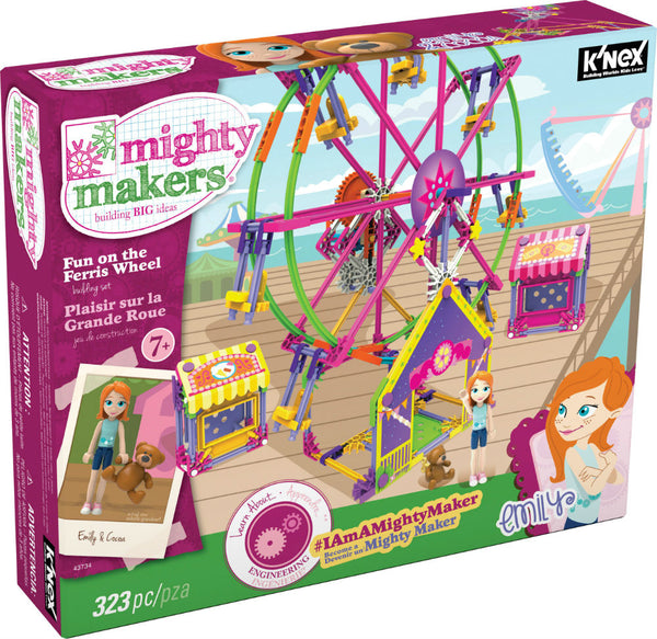 Knex® 43734 Mighty Makers® Fun On the Ferris Wheel Building Set, 323-Piece