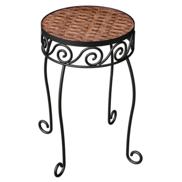Panacea™ 82322 Resin Top Wicker Plant Stand, Brown, 16.5""