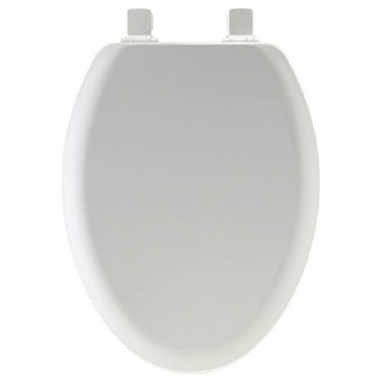 Mayfair 141EC-000 Elongated Molded Wood Toilet Seat w/ Easy-Clean Hinge, White