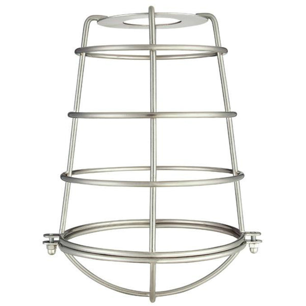 Westinghouse 85031 Cylindrical Metal Cage Shade, Brushed Nickel, 8""