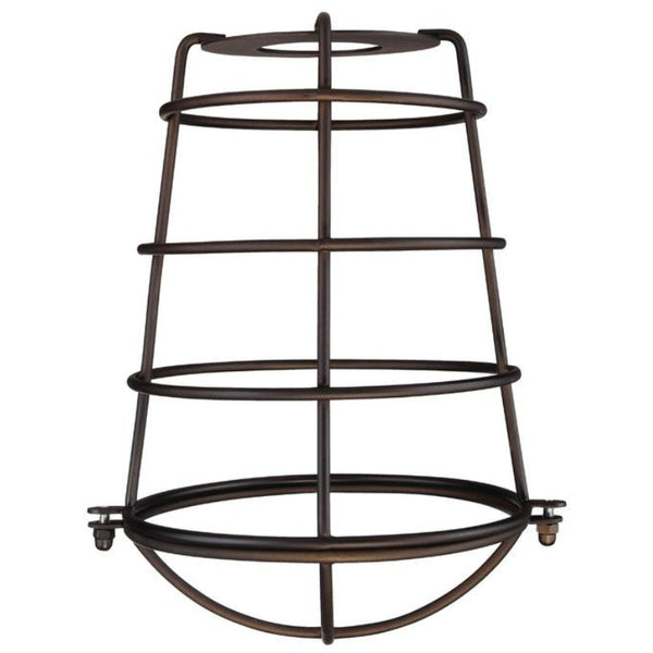 "Westinghouse 85033 Industrial Cage Neckless Metal Shade, 2-1/4"", Oil Rubbed Bronze"