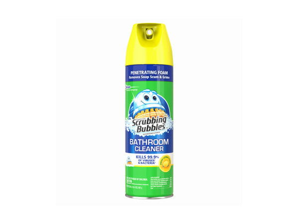 Scrubbing Bubbles 71362 Lemon Scent Bathroom Cleaner, 20 Oz, Aerosol