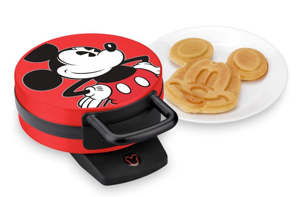 Disney DCM-12 Mickey Waffle Maker with Non-Stick Cooking Plates, 7""