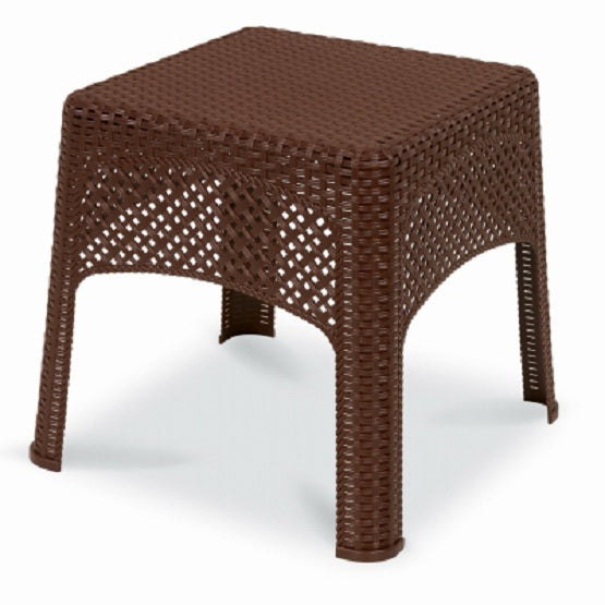 Keter® 189982 Veranda Stackable Wicker Side Table, Cappuccino Color