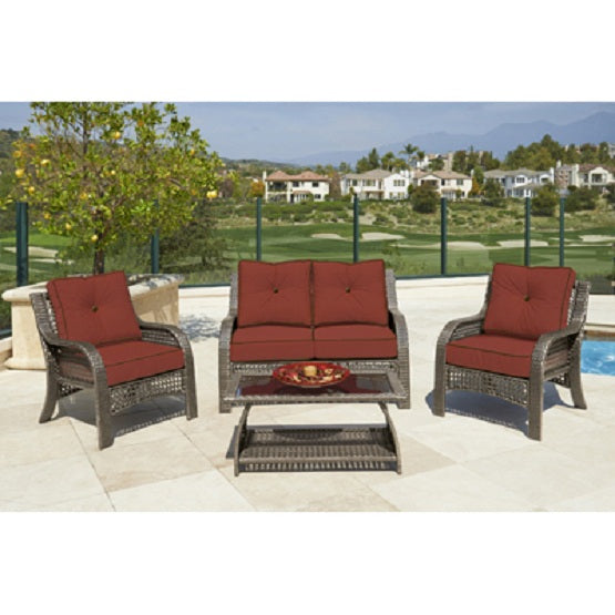 Four Seasons Courtyard 0135-800-065-02-F932 Piedmont Patio Set, 4-Piece