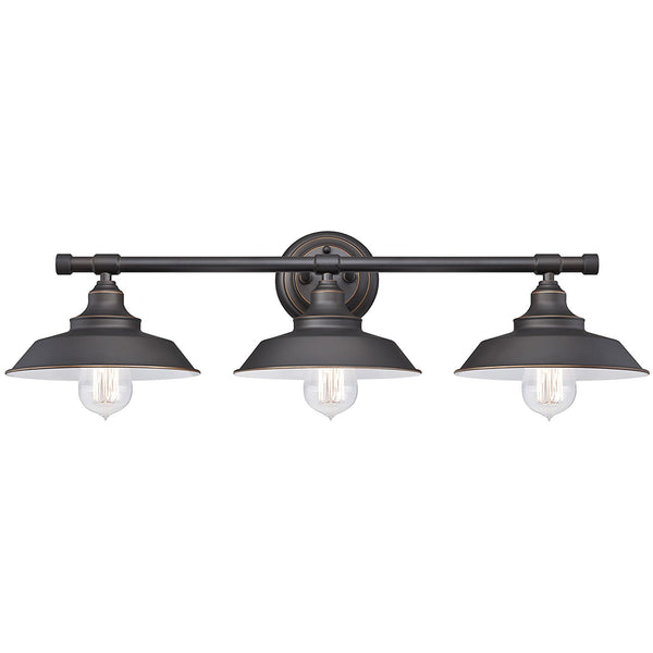 Westinghouse 63434 Iron Hill 3-Light Indoor Wall Fixture, Oil Rubbed Bronze