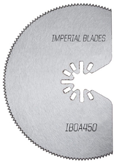 Imperial Blades IBOA450-1 One Fit Segmented HSS Tin Storm Blade, 4""