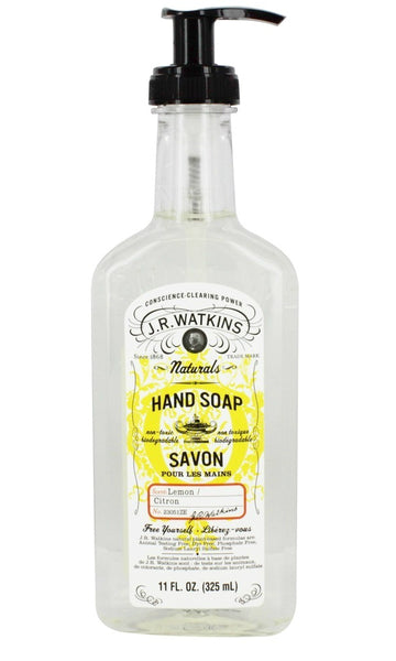 J.R. Watkins 23051 Liquid Hand Soap with Lemon Scent, 11 Oz