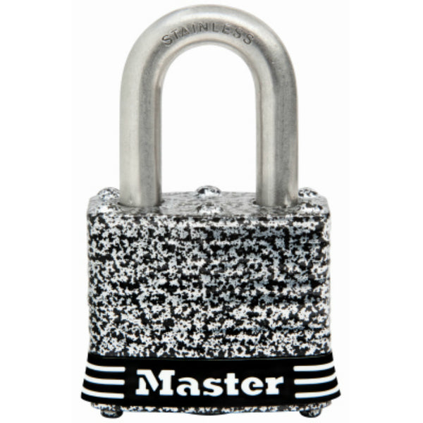Master Lock® 3SSKADHC Laminated Padlock with Stainless Steel Shackle, 1-1/2""