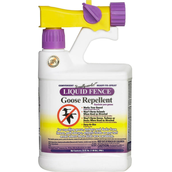 Liquid Fence® HG-1466X Goose Repellent, Ready-to-Spray, 1 Qt