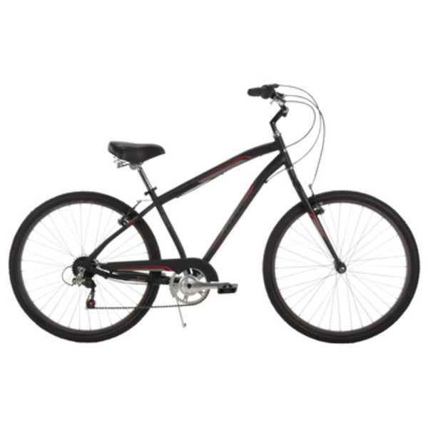 Huffy® 26767 Parkside™ Men's 7-Speed City Bike, Matte Black, 26""