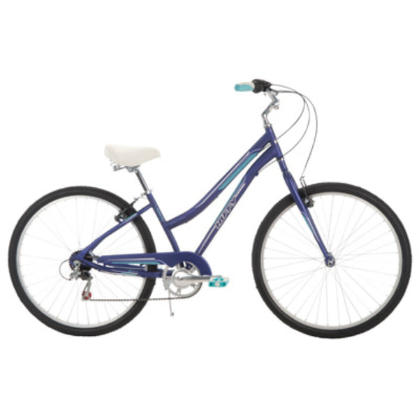 Huffy® 26777 Parkside™ Women's 7-Speed City Bike, Matte Midnight Purple, 26""