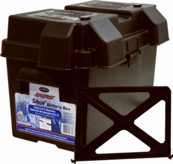 SeaSense® 50090675 Stay Shut® Universal Battery Box with Adjustable Divider