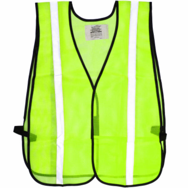 Safety Works® SWX00354 Reflective Safety Vest w/ Silver Stripes, One Size Fits All