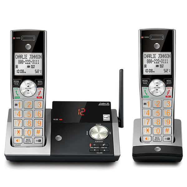 AT&T® CL82215 Two-Handset Cordless Answering System with Caller ID/Call Waiting