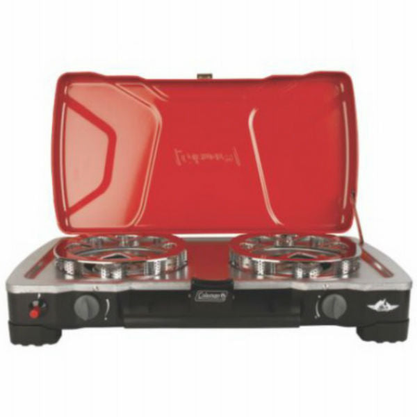 Coleman® 2000017462 FyreCadet™ HyperFlame™ Stove, 2-Adjustable Burner, 11000 BTU Each
