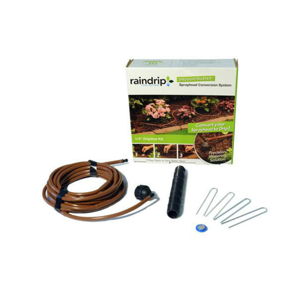 Raindrip® CONV-SK Easy-To-Use Soaker Hose Kit, 1/4""