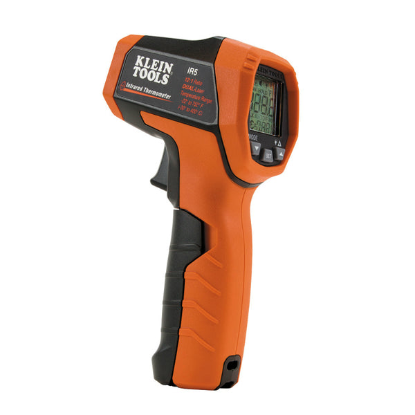 Klein Tools® IR5 Dual-Laser Infrared Thermometer with Backlit Display